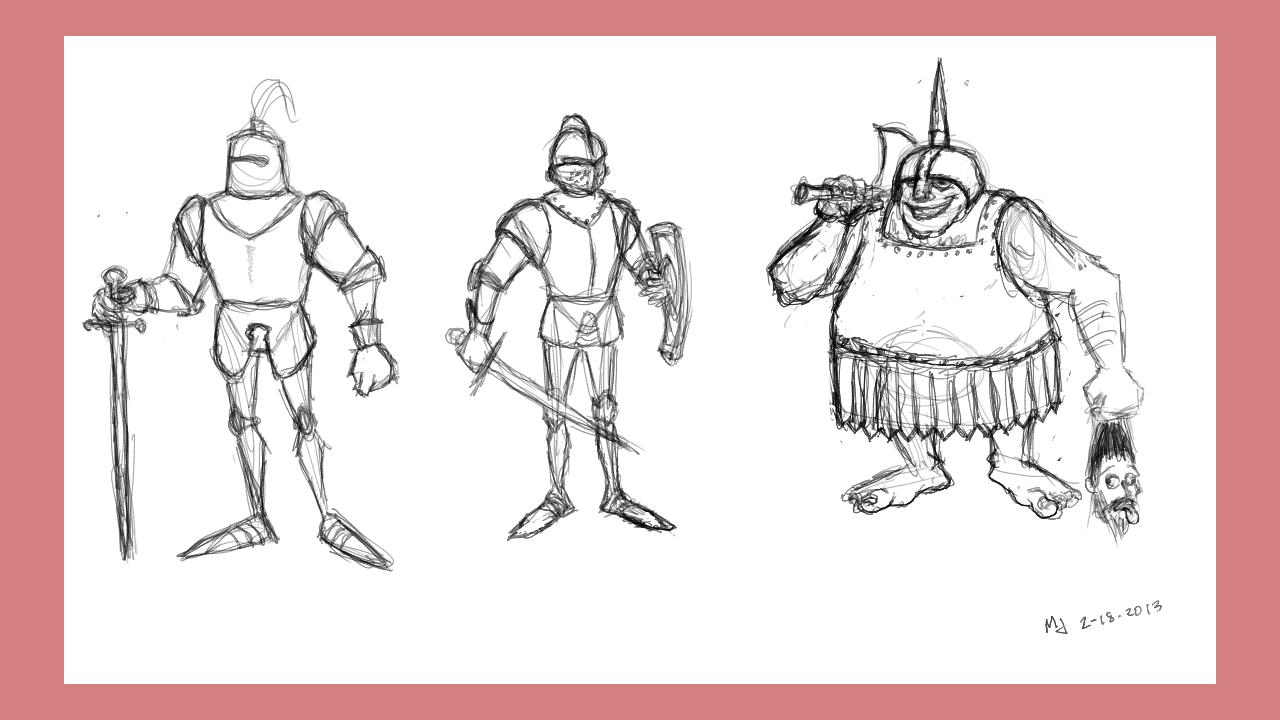 Knight Doodles